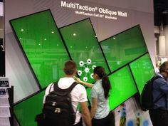 MultiTaction Oblique Wall #digitalsignage #touchscreens Photos: 15 Trends From InfoComm 2012 - Commercial Integrator InfoComm Spotlight