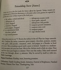 Friendship Stew - The Kitchen Witch Cookbook Wicca Recipes, Spelt Recipes, Easy Spells, Cooking Tips, Cooking Recipes, Kitchen Witchery, The Good Witch, Recipe For Mom, Easter Treats