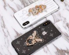 Luxusný-Silikónový-kryt-s-macíkom-a-kryštálikmi-pre-všetky-typy-iPhonov. Mobiles, Apple Iphone, Rings, Mobile Phones, Ring, Jewelry Rings