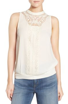 Adding this Chelsea28 'Victoriana' top to the NSale wishlist. The intricate lace detail of this tank makes it a great piece for the fall wardrobe. Looks great on it's own, but would also be cute paired with a moto or bomber jacket for this chillier.