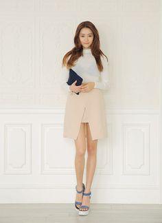 Apricot Irregular Skirt  http://koreanfashionworld.com/product/apricot-irregular-skirtLike this Korean skirt? Find more on Korean Fashion World ^^