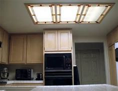 Decorative Fluorescent Light Fixtures Covers Dollhouse - Kitchen fluorescent light fixtures decorative