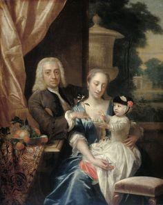 van Dijk, Philip - Isaac Parker, zijn echtgenote Justina Johanna Ramskrammer en hun zoontje Willem Alexander, 1742