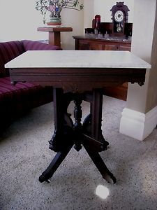 Image detail for - MAHOGANY-VICTORIAN-PARLOR-MARBLE-TOP-TABLE-EASTLAKE-STYLE-PA-15642-NO ...