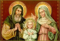 Saint Joachim & Saint Anne with their baby Mary. The Immaculate Conception.   YBH