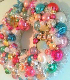 Antique Christmas Ornament Wreath