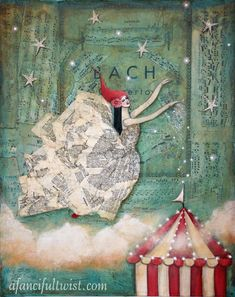 Love this website and the art is AMAZING! Circus Magic by AFancifulTwist on Etsy, $20.00