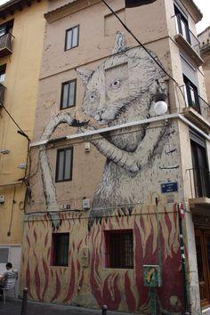 Erika il cane. Ruta street art Valencia. CaminArt. Arte urbano.