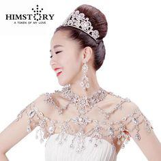 Новые роскошные свадебные Сеть Кристалл плеча цепи свадебные украшения свадебные ожерелье пикантные Свадебные украшения цепи