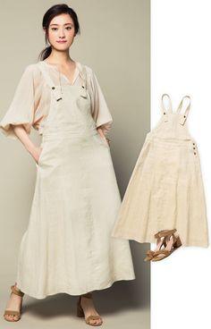 中島亜梨沙が着こなすジャンパースカート