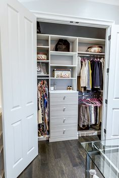Utah company http://www.closetfactory.com/custom-closets/closet-organizer-galleries/reach-in-closets/?imgid=13482