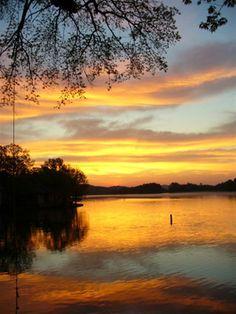 Kangaroo Lake Sunset in Door County  I took my first steps at Kangaroo Lake in 1958