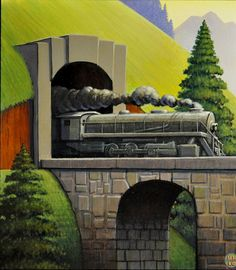 Steam by Robert LaDuke Art Deco Posters, Cool Posters, Vintage Posters, Vintage Art, Travel Posters, Art Transportation, Art Deco Illustration, Train Art, Ad Art