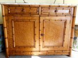 antique bamboo chest, english 19th c