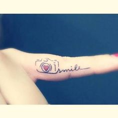 Image result for camera smile tattoo