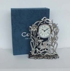 Pewter Welsh Dragon Clock | Welsh Rugby Shirts and Welsh Giftware