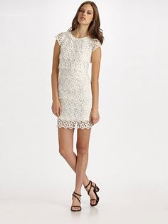 """Desperately looked for a white lace dress last year (after seeing a ls version on the ever lovely Marisa Tomei in """"Cyrus""""). So feminine."""