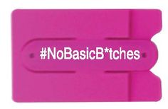 #NoBasicBitches. Let all the basic b*tches know you don't have time for them! While they're rummaging through last season's oversized bags, you'll always be ready right away to swipe your card for bottle service. A smart, durable wallet and phone stand, the Kangroo Kickllet gives you convenience and function while letting you express yourself. www.KangarooKickllet.com