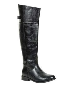 Take a look at this Black Rider-82 Boot by Breckelle's on #zulily today! I could own a 1000 boots and never get sick of them. When I think about must haves I believe we all need at least one pair of good knee high boots. These are a beauty ut at a very good price. All shoes do not have to be leather to be a good buy.