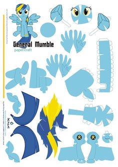 general Mumble Papercraft Pattern by *Kna on deviantART