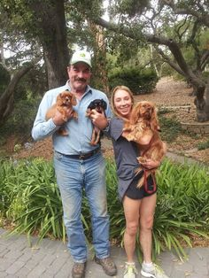 Tom Selleck and his cavaliers