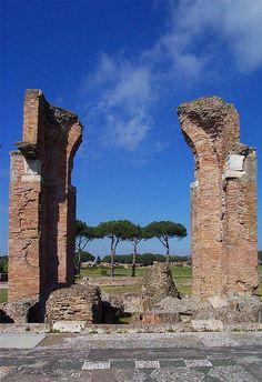 Marciana Bath in Ostia Antica, Rome, Italy Copyright: Bert Hoetmer