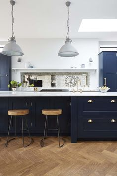 Kitchen Living Rooms Dark Blue Kitchens Cabinets Grey And White