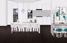 Clean #contemporary #kitchen #design for my @decoristofficial client!  Get yours today and save $20 with promo code CASEY20!!  #design #designlife #designer #rendering #interiordesigner #interiordesign #hgtv #modern #decor #homedecor #inspo #inspiration #glam