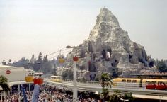 Daily Vintage Disneyland: The Matterhorn, Skyway and the Monorail from 1968
