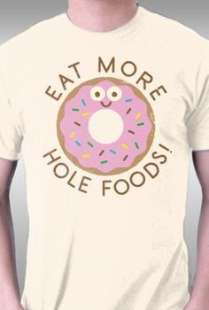 Donut Art Print Eat More Hole Foods Funny Food Pun Poster Cute Pink Glaze Doughnut With Sprinkles Breakfast Bakery Home Decor 8 x 10 Inches Donut Quotes, Food Quotes, Cake Quotes, Funny Quotes, Tastefully Offensive, Food Puns, Funny Food, Food Humor, Donut Party