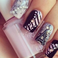 French Nails from The Daily Polish Site - Tutorial pinned to my Nails Tutorial Tips board. Fabulous Nails, Gorgeous Nails, Love Nails, How To Do Nails, Pretty Nails, Style Nails, Glam Nails, Diy Nails, Beauty Nails