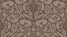 Palmiro (33864) - Albany Wallpapers - Heavy weight Italian vinyl with heraldic scrolls and flourishes in a pretty symmetrical design, with a raised texture on a linen effect background. . Shown in the dark chocolate brown on mushroom beige.  Please ask for sample for true colour match.