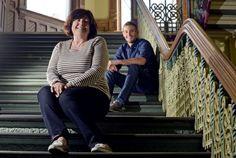 Freda Kelly, left, former secretary to the Beatles and filmmaker Ryan White, right, in Toronto.