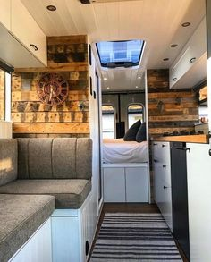 Loving this school bus conversion interior ❤ What feature do you think is a must have on all home on wheels? 📍 London, United Kingdom 📷 by… Van Conversion Interior, Camper Van Conversion Diy, Van Conversion Tips, Van Conversion With Bathroom, Bus Living, Tiny House Living, Motorhome, Van Home, Bus House