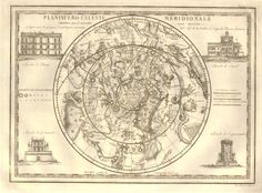 Recto Plate Map of the celestial sphere (northern hemisphere) showing various zodiacal constellations including Gemini, Leo etc, surrounded by four observatories in Rome, Bologna, Padua and Milan. 1790 Engraving © The Trustees of the British Museum Celestial Sphere, Bologna, British Museum, Constellations, Gemini, Rome, Milan, Leo, Vintage World Maps