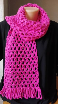 Crochet Kids Scarf, Crochet Scarves, Crochet Hats, Crocheted Scarf, Crochet Dishcloths, Crochet Stitches, Cotton Crochet, Hand Crochet, Loom Scarf