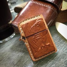 Zippo Lighter, Leather Case