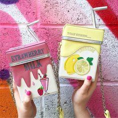 Strawberry milk & lemonade shoulder bag SD02476