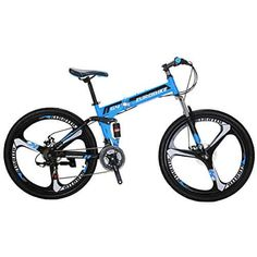 Price: (as of – Details) EUROBIKE Mountain Bike 26 inches 3 Spoke Wheels Dual Suspension Folding Bike Fits up to This Dual suspension mountain bike is light and … Boys Mountain Bike, Folding Mountain Bike, Mountain Bikes For Sale, Folding Bicycle, Mountain Biking, Mtb Bike, Cycling Bikes, Dual Suspension Mountain Bike, Online Bike Shop