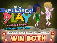 Hey hey hey ! Want to get a free play standard fairy wings and Play Magic Fairy Wings? WIN BOTH BY ENTERING THIS LINK: https://www.facebook.com/SmallWorlds/app_228910107186452 Come and play Smallworlds now ! The best !! :3