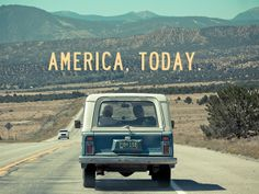 AMERICA, TODAY. by emanuele nardoni, via Behance