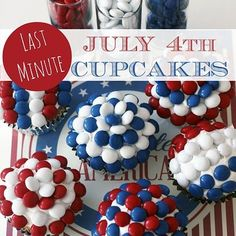 Last Minute Fourth of July Cupcakes! See more party ideas at CatchMyParty.com.