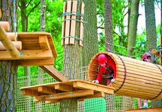 The High Ropes Adventure Park in Ocean City, Maryland is a fun way to challenge yourself! Ocean City Md, City Beach, Beach Trip, East Coast Road Trip, Ropes Course, Adventure Activities, To Infinity And Beyond, Vacation Spots, Day Trips