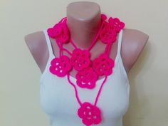 Hand made scarf with flowers Spring new fashion by BloomedFlower, $21.00