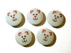 Fabric buttons, covered buttons, bag purse buttons, embellishment buttons, craft…