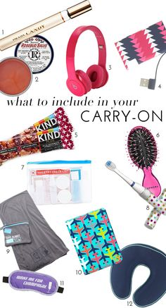 Our 12 Must-Haves To Include In Your Carry On