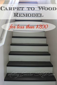 Great How To Convert Your Carpeted Stairs To Wood For Under $200. We Had Several  Of The Tools Already (and Borrowed What We Didnu0027t) So Our Cost Was