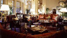 Raffles Hotel Singapore. British colonial style