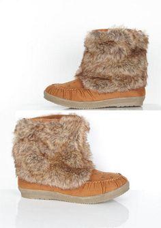 River Fur Moc Boot