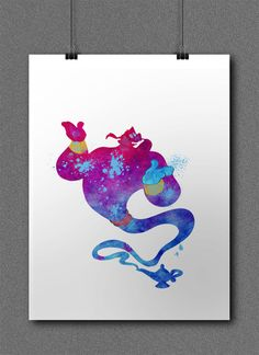 "Robin Williams, Genie Disney Print Watercolor, Aladdin Poster, Children Room, Nursery, Wall Decor, Home Decor ""Aladdin#2"" by SchioStudio360 on Etsy https://www.etsy.com/listing/201307609/robin-williams-genie-disney-print"